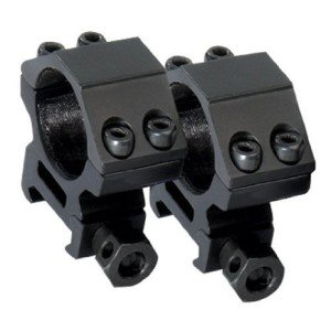 A sturdy, two-piece air rifle scope mount